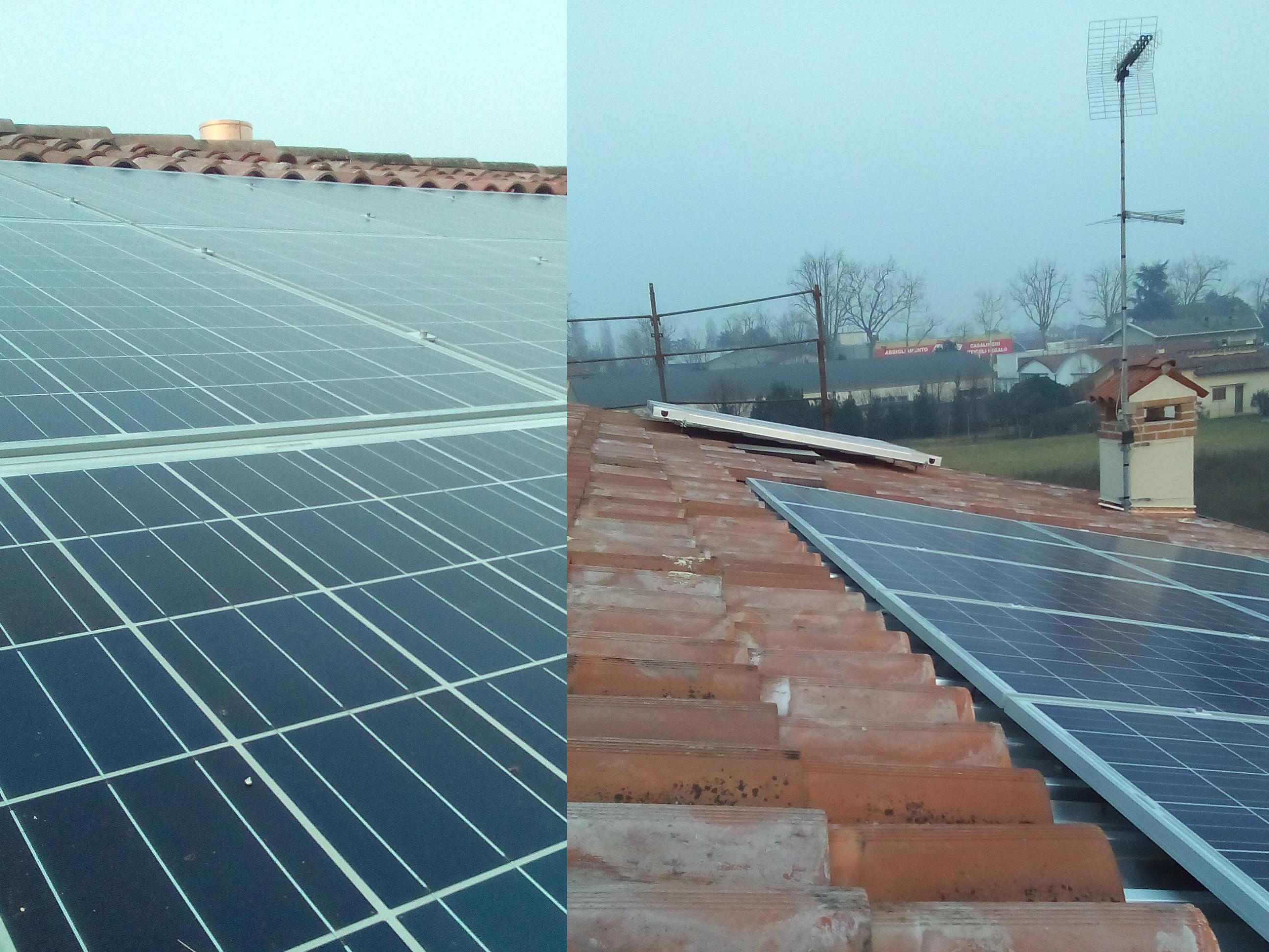 impianto fotovoltaico integrato e con sistema di accumulo